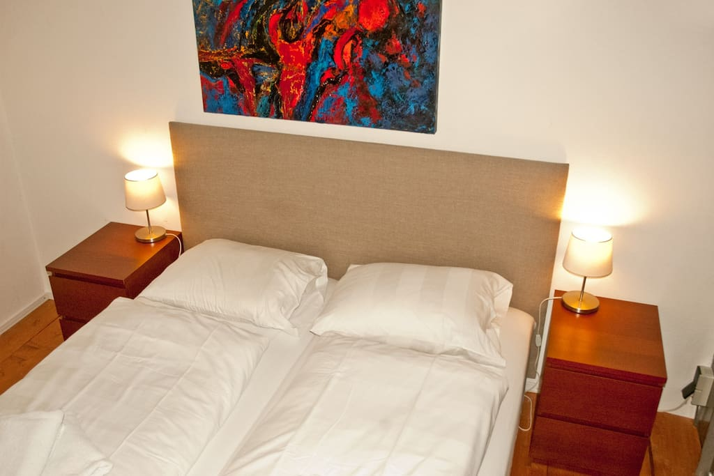 Every bedroom has double bed or single beds and its own en-suite bath