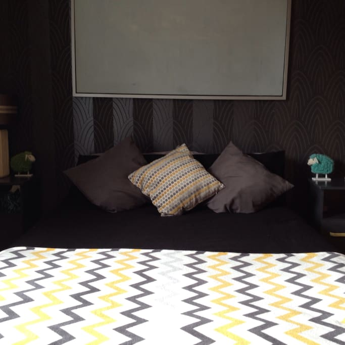 Room with double bed. Gay friendly.