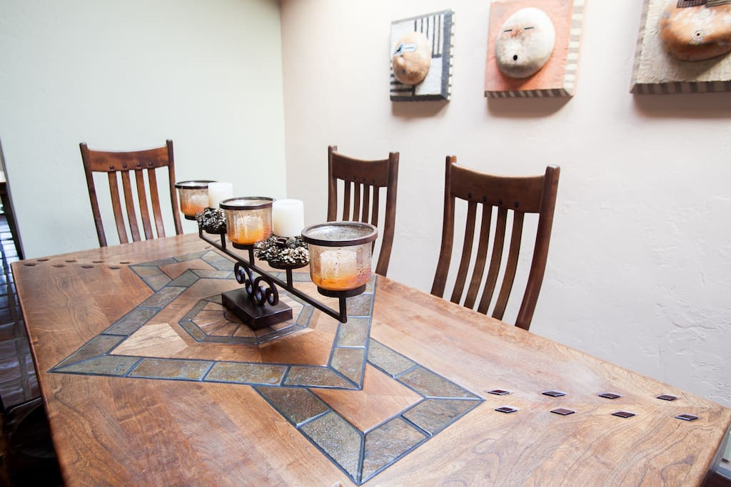 Hand-crafted dining room table