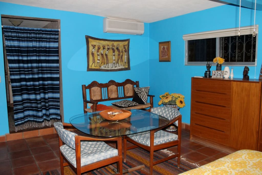 THE BLUE ROOM with attached bathroom and view terrace