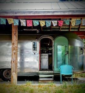 Airstream trailer, cozy, creative