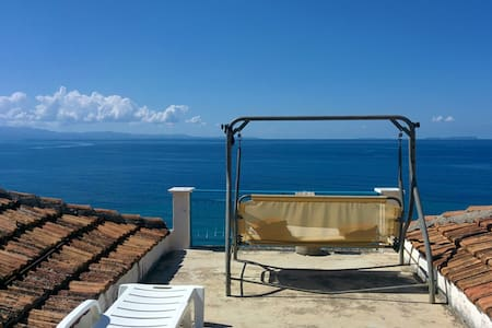 Villa with garden and view to the Ionian coast - Villa