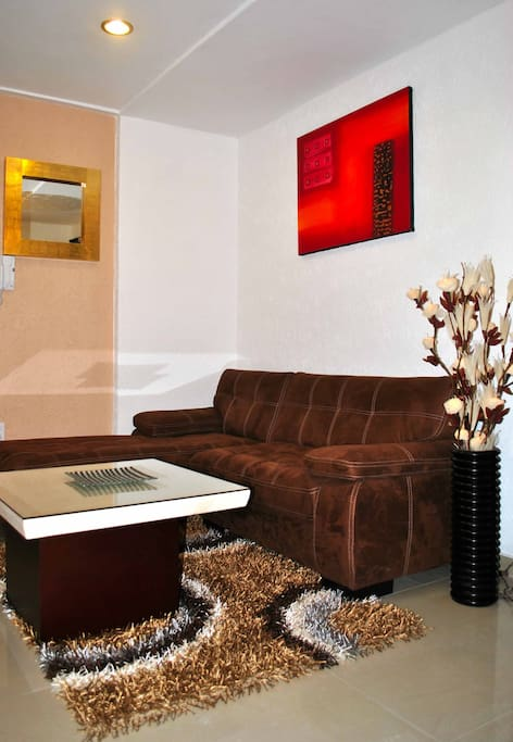Small living space for entertaining guests