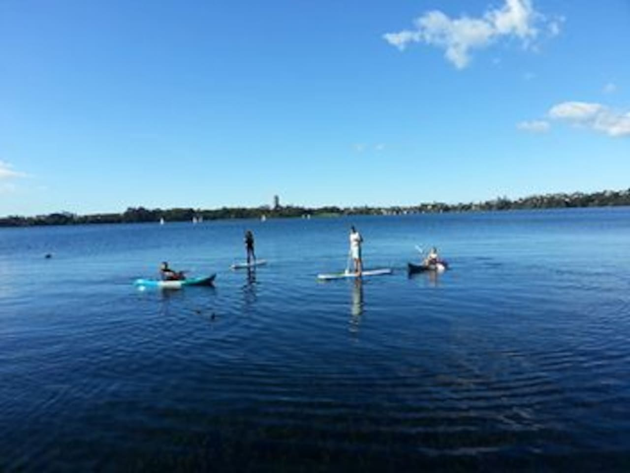 Free use of kayaks and paddle boards