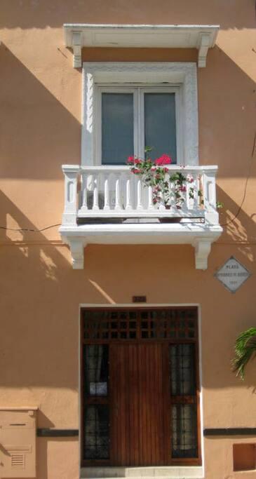 Exterior Balcony of Charming Studio!