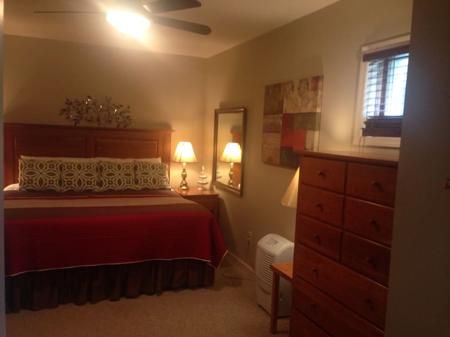 Bedroom #2 with king sized bed when 3 or 4 guests book