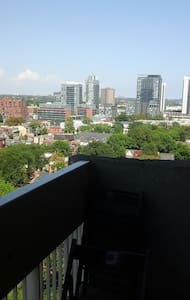 Loft style, Large 1BD + Great view