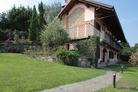 Villa & swimming pool nearby Arona - Montrigiasco