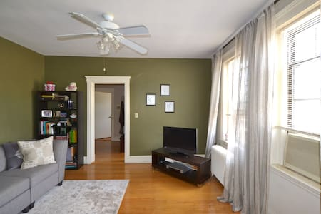 Sun-drenched & Airy Apt, near T