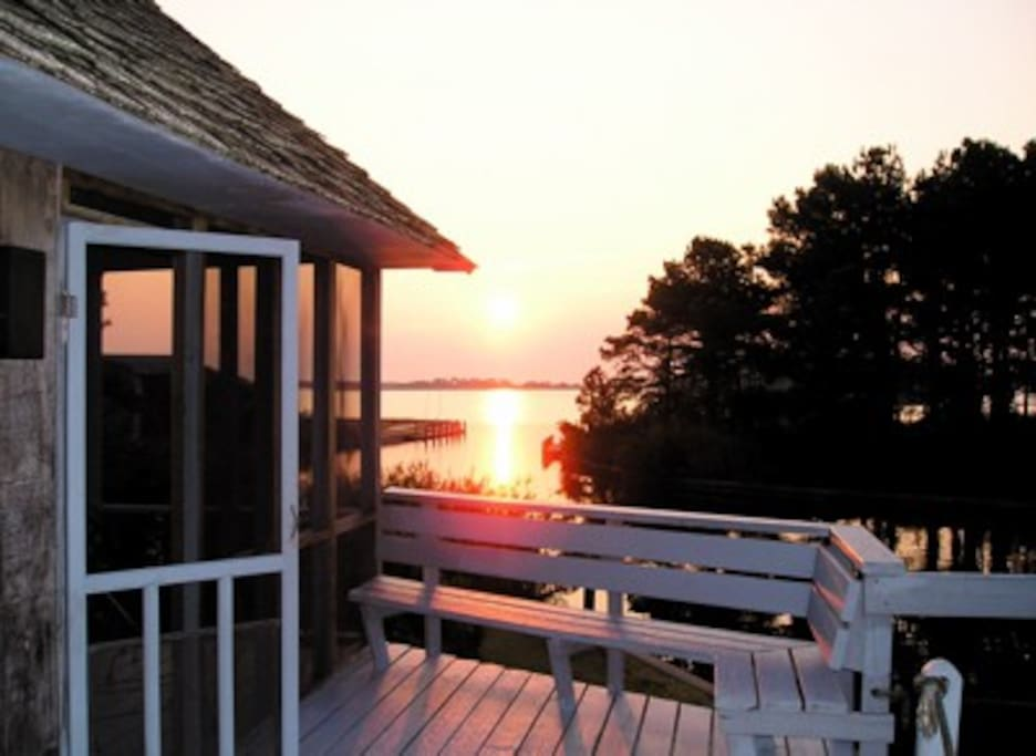 Sunrise over Assateague from The PonyIsland House Deck