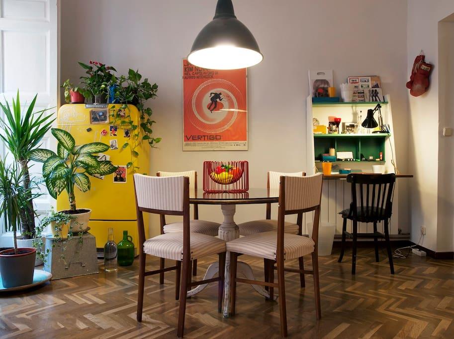 Living room, dinning area.