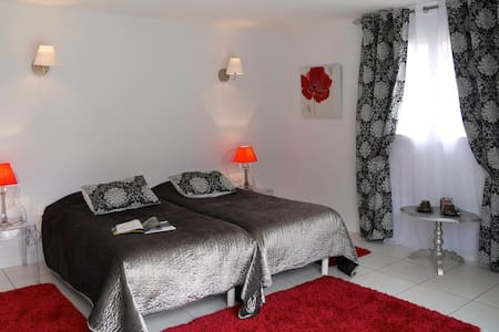 Chambre double coquelicot - Chouzy-sur-Cisse - Bed & Breakfast