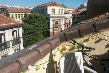 Beautiful attic Pza España-Malasaña