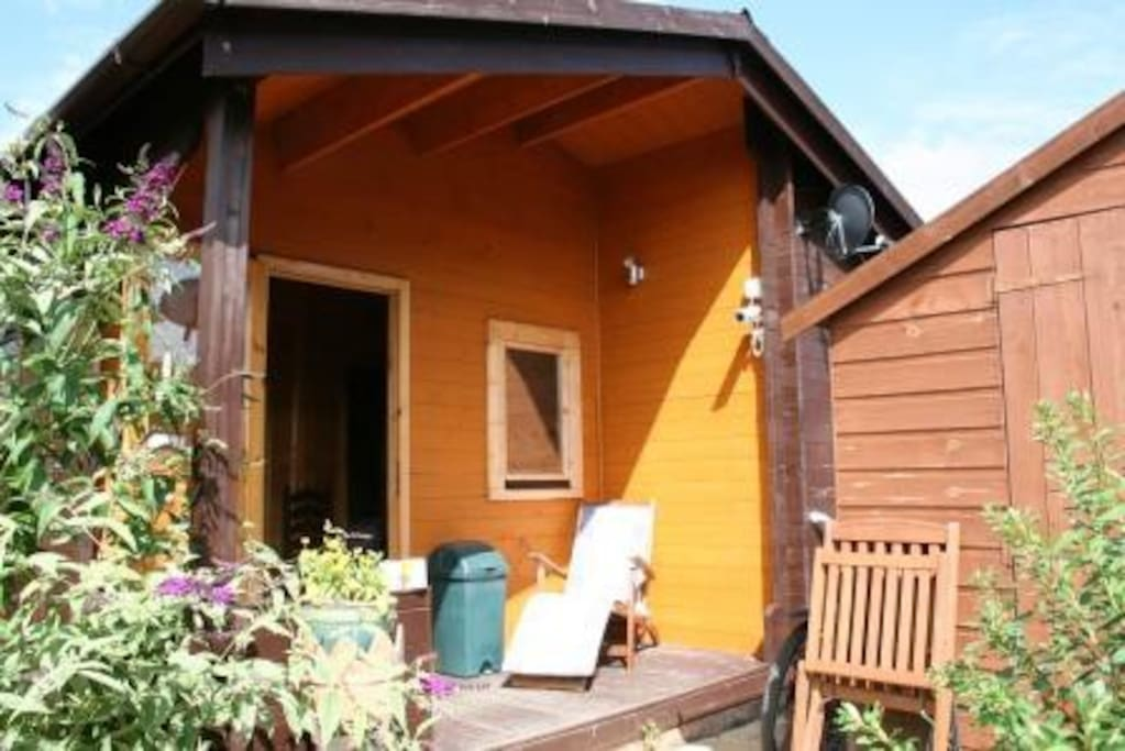 The front of the Chalet is a Sun Trap and provides a great place to just sit and soak up the sunshine.