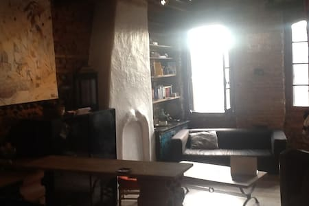 Warm flat with mezzanine - Apartment