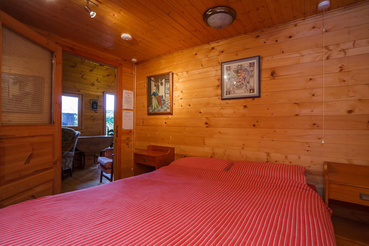 Double bed and Bedroom
