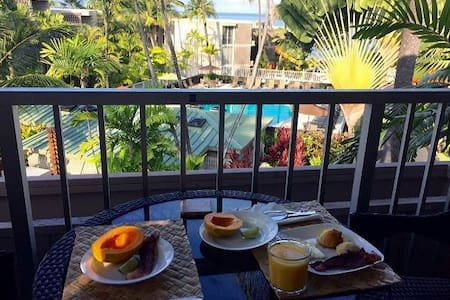 A condo complex that is a true oceanfront property, conveniently located within walking distance to beaches, shops and restaurants, yet it is quiet and peaceful. Please add for Hawaii State Taxes (13.4166%).