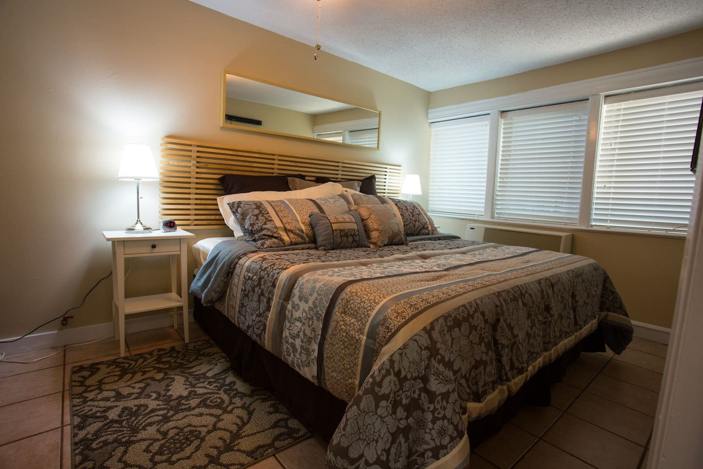 Master bedroom with luxurious king size bed