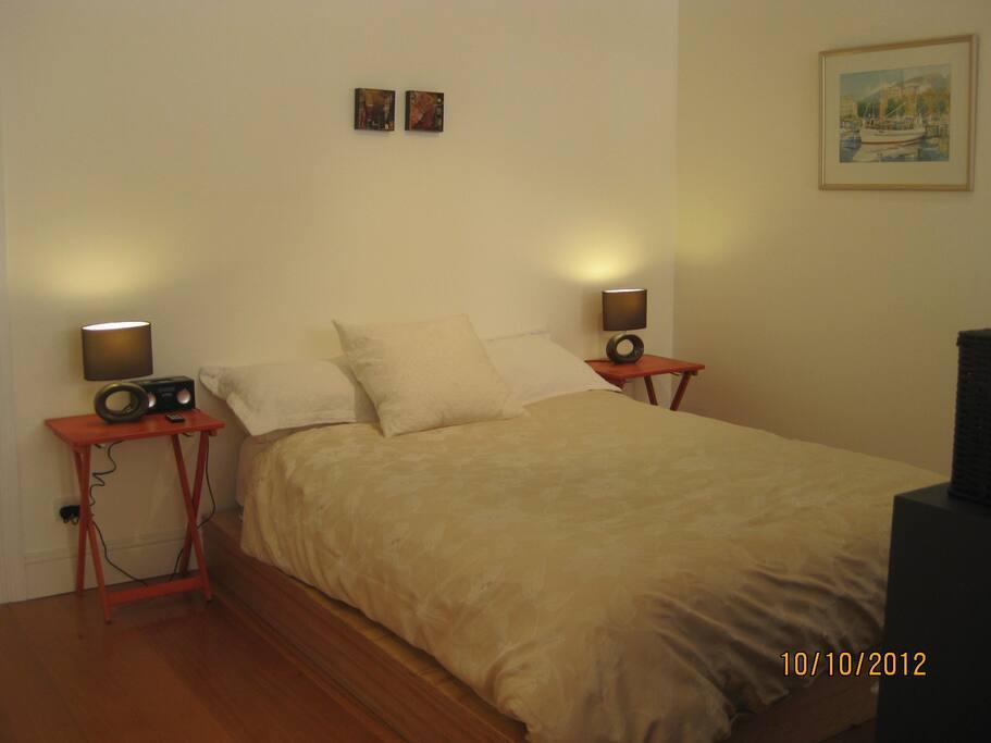 Sleeping area Comfortable new  Queen pillow top  bed