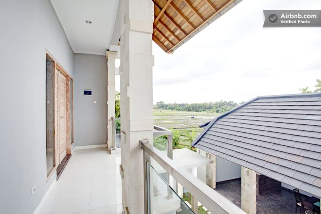 Rice field view from upstairs bedrooms