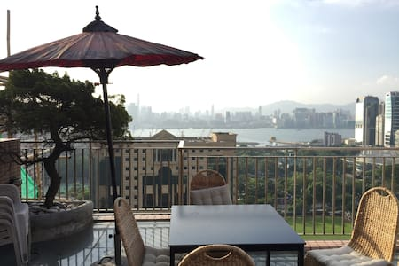 Roof terrace: great HK harbour view - Hong Kong - Apartment