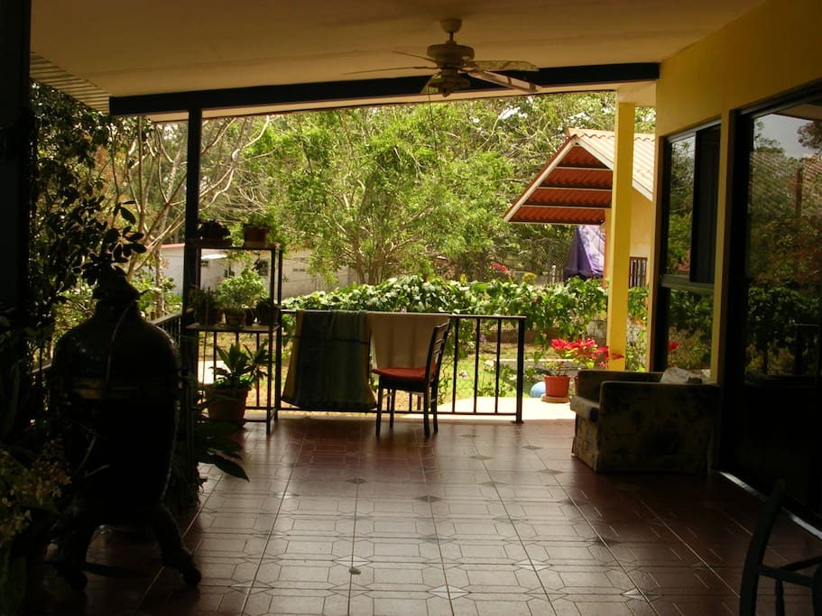 Terrace of home.Very quiet. Afternoons sometimes breezy.