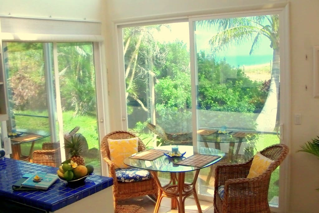 Relax 'at home' and let our exotic tropical garden come 'indoors'