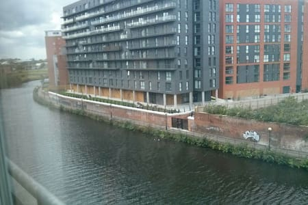 Lovely room with River Irwell views