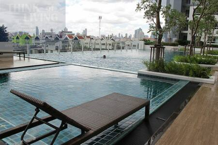 cozy Apartment city center kitchen+pool+gym WIFI+Family mart 24hrs  4 kilo to silom road