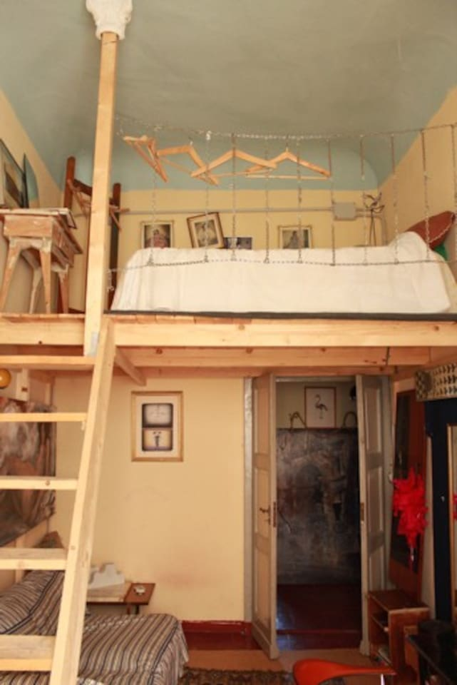 this is the bedroom, the bed is upstairs, the lounge downstairs