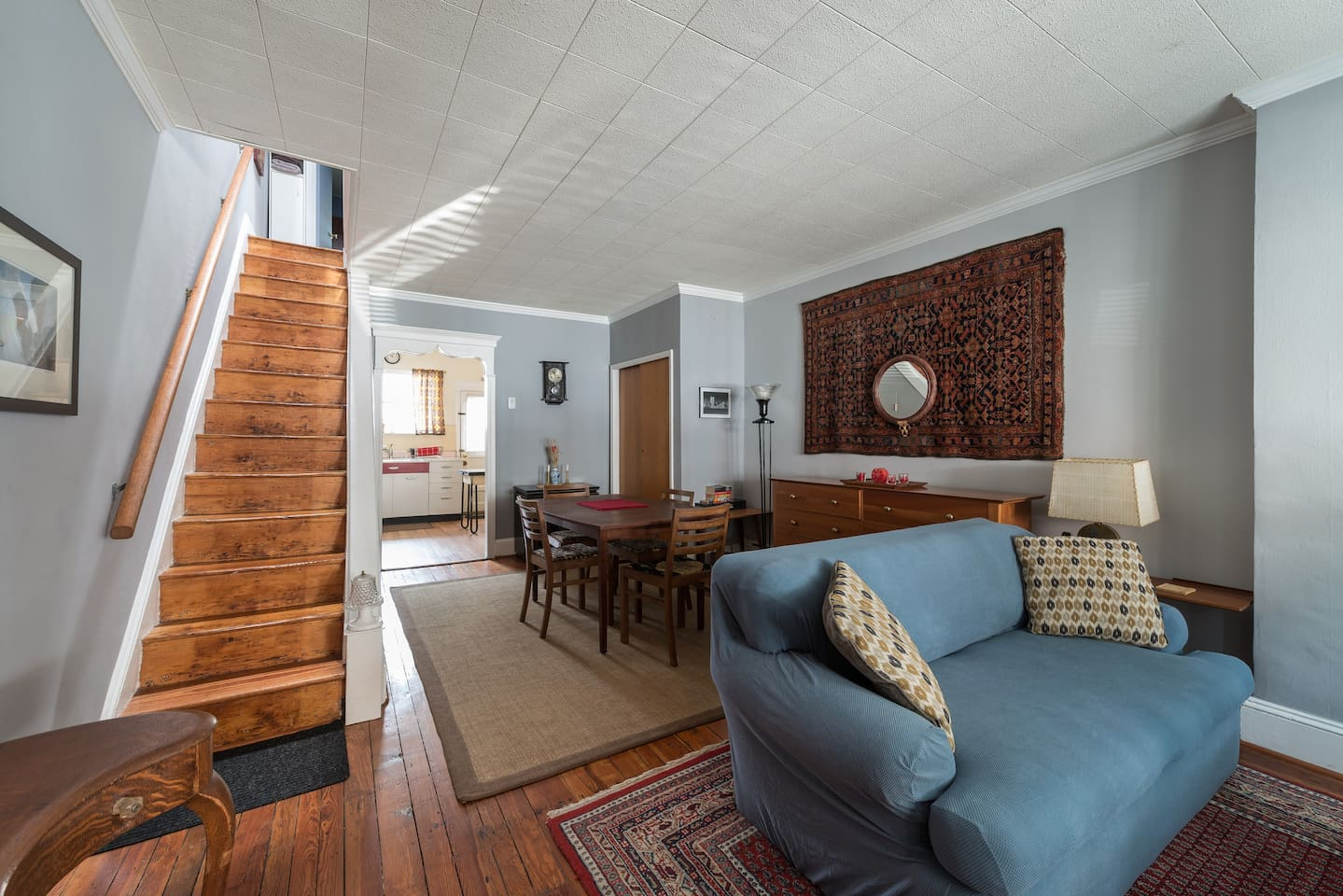 A classic South Philly rowhouse, thoughtfully updated