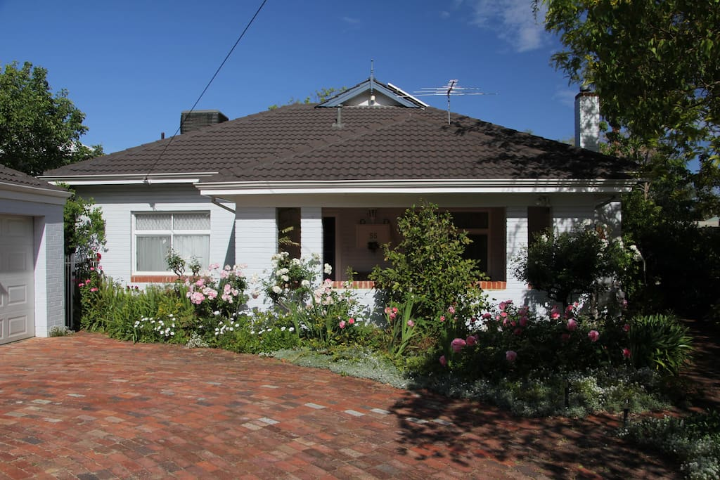 House and garden, off street parking.