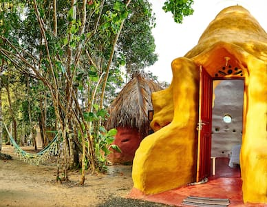 Eco-Cottage in beach south of Bahia - Alpehytte