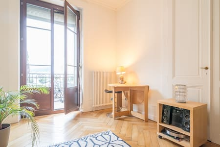 Large bright room, lake view - Geneva - Apartment