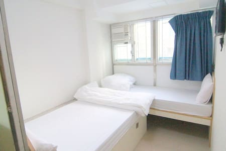 This is a hostel with 7 rooms.  Only 5 mins walk to Jordan MTR Exit A or Yau Ma Tei MTR Exit C