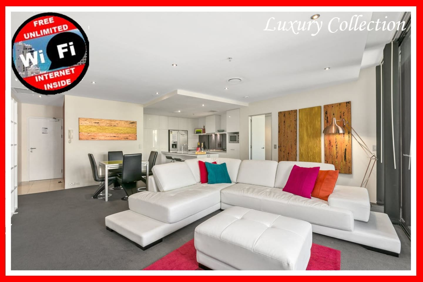 Circle On Cavill HUGE 2bed 2bath LUX SPA