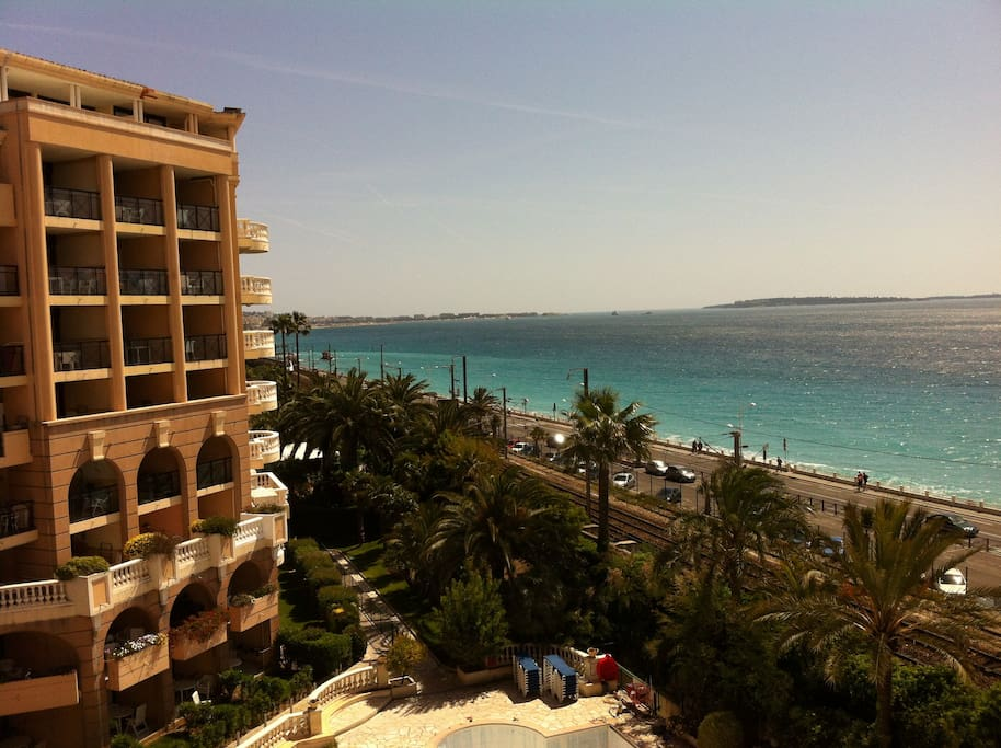 Cannes front sea panoramic
