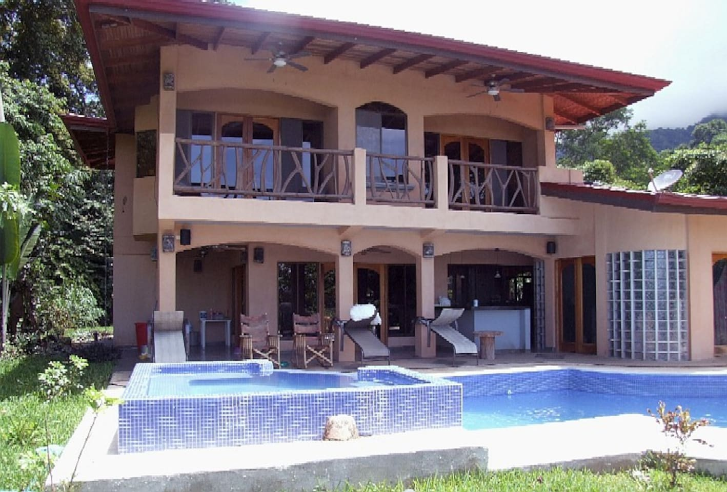 House and pool view
