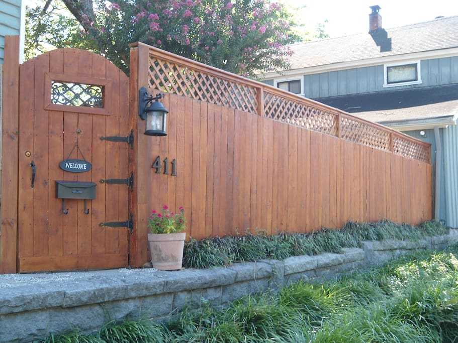 privacy fence entry