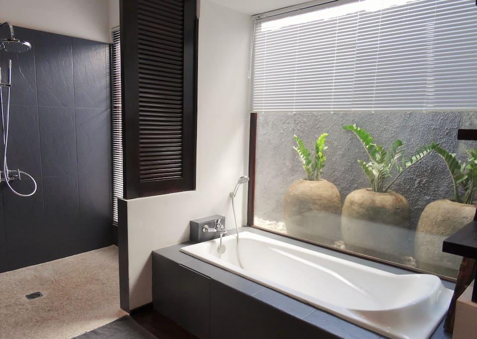 bathroom 1 ;bathtub,shower