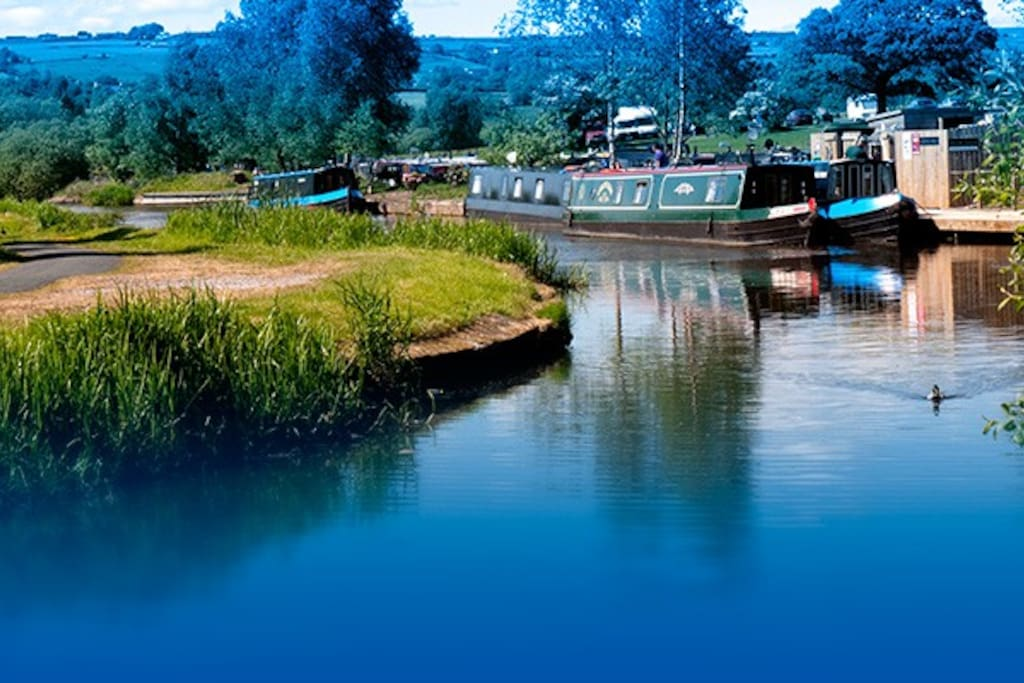 Our boat is based at Reedley Marina, one of the most picturesque marinas in the country
