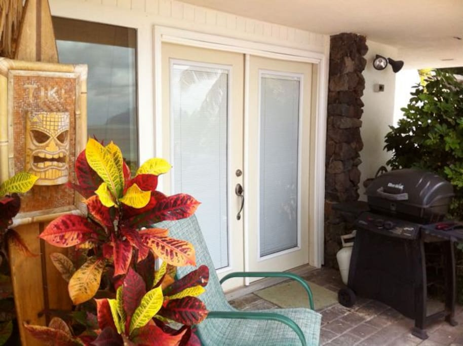 Entrance to your Hawaiian Vacation in The Garden View Studio