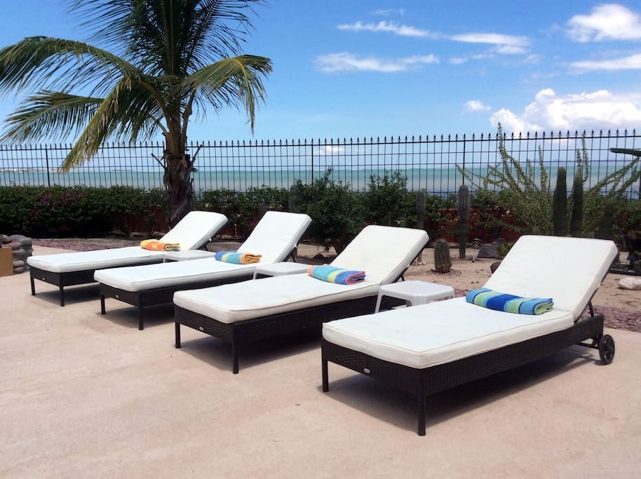Four lounge chairs