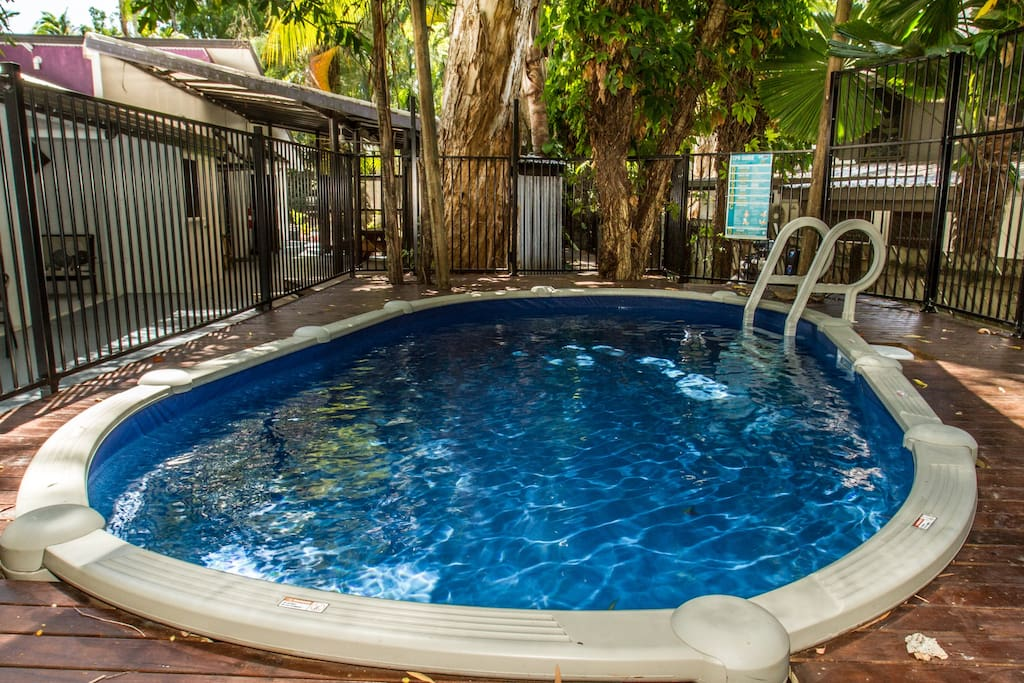 relax and cool off in the new pool