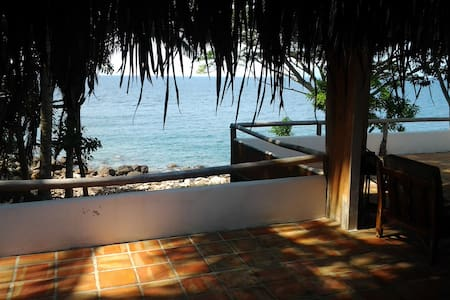 romantic beachfront house pv/yelapa - House