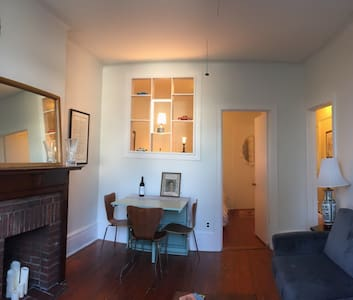 Bright and cozy second floor apartment in a family occupied building. 1 bedroom, fully equipped kitchen, full bathroom. Funky, full of great light, garden view. In the heart of lovely Windsor Terrace, steps to F/G trains and cafes and pubs.