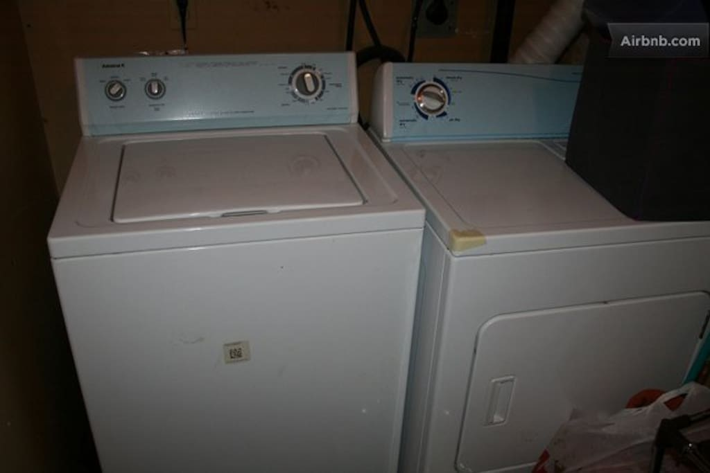 Brand new washer and dryer - you can use them 24/7