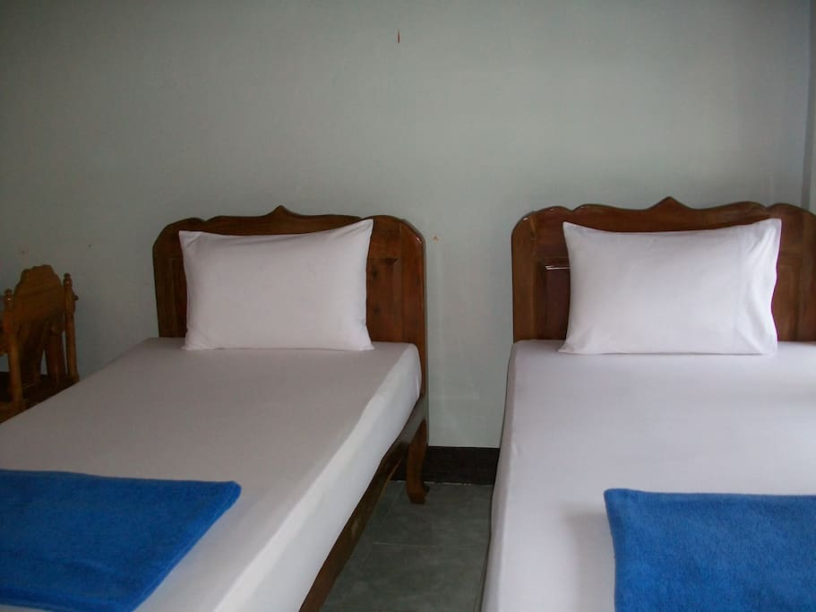 Twin beds.