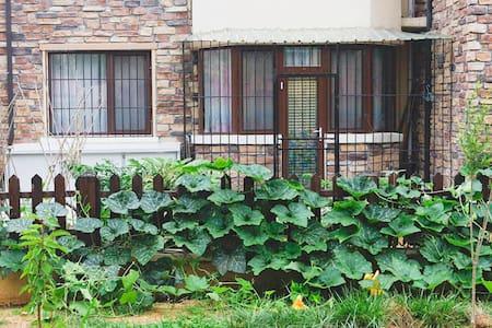 温泉明珠一楼(单间)有小园 适合泡温泉、长期疗养 - Weihai Shi - Apartment