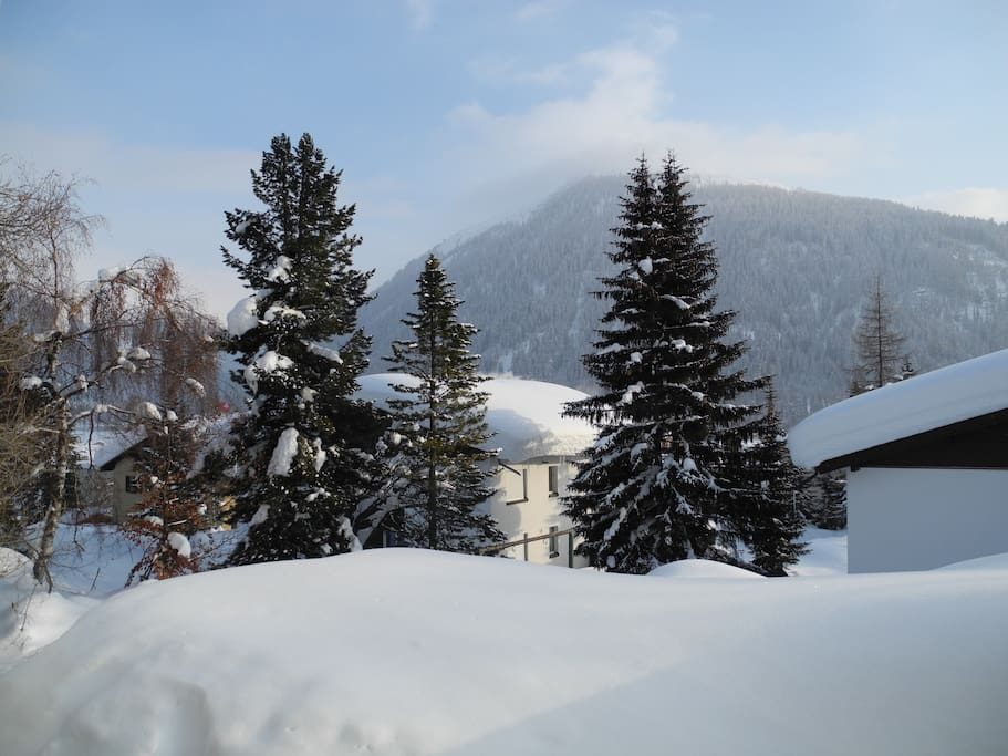 Panoramic view of the mountain Jakobshorn